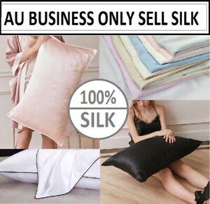 100% Mulberry Silk Pillow Case 25 Momme Slip Genuine Silk Pillowcase Multi-Color