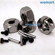 4 Stück 1/10 6mm-12mm Metall Aluminium Hex Radnaben Länge für Tamiya HPI Buggy
