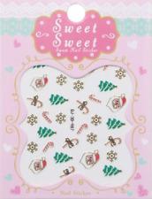 Nailart Stickers Autocollants Ongles Déco Noël Scrapbooking Sapins Sucres d'orge