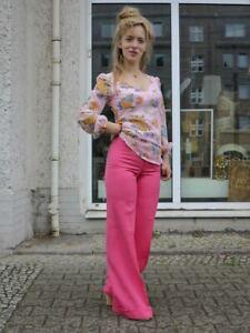 Betty Barclay 6 Schlaghose pink Damenhose 70er TRUE VINTAGE 70s flares pants