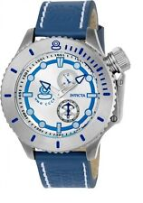 Invicta 22008 Mens Russian Diver Blue Band Silver Dial Watch