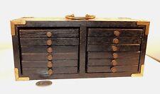 Wooden Oak Coaster Set with Holder Set of 12 (7723)