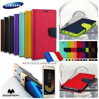 Etui Folio housse coque Cuir PU Leather Mercury Wallet Case Samsung Galaxy (All)