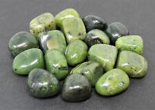 "1 Nephrite Jade Tumbled Stone: 20 mm (3/4"") Crystal Healing Reiki Tumble"