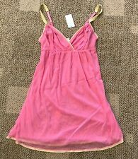 OnGossamer Womens Gossamer Mesh Nightie Sleep Dress Pink Size Medium