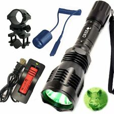 WindFire Green LED Coyote Hog Hunting Light +Barrel Mount Remote Pressue Switch