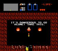 The Legend Of Zelda Gold Cart - Rare NES Nintendo Game