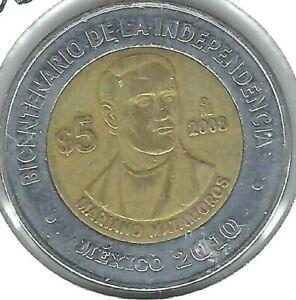 2010 Mexico 5 Pesos Jose Maria Morelos y Pavon Coin!