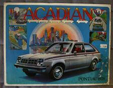 PONTIAC ACADIAN 1978 dealer brochure - French - Canadian Market