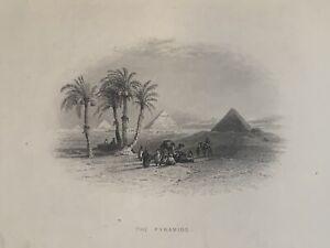 1862 View Of The Pyramids Egypt Original Antique Print