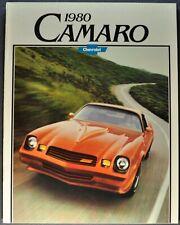 1980 Chevrolet Camaro Brochure Z28 Berlinetta RS Sport Coupe Excellent Original
