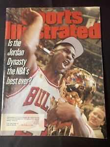 "Sports Illustrated Michael Jordan ""Best Dynasty?"" Magazine 6/23/1997 Bulls GOAT"