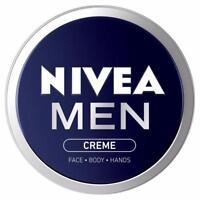 2 X Nivea Men Creme 75ml Each Moisturiser Cream Face Body Hands Moisturiser Care