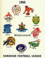 1966 CFL Vintage Old Style Team Logo's Color 8 X 10 Photo Picture Free Shipping