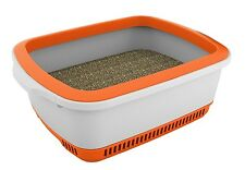 Self Drying Litter Box With Pan Cat Waste Odor Reduction Clean KittyToilet Large