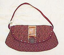 *EXQUISITE RETRO ACCESSORIZE EVENING OR DAY BAG BEADED CABACHON CLASP SEQUINS