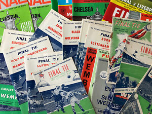 FA Cup Final Programmes 1940's Onwards - *Choose from List* - Discount Available