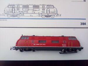 Märklin 3184, Diesel-Lok der SBB BR Am 4/4, rotgrau  OV, Sondermodell 1980  rar