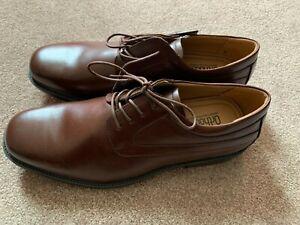 NEW Mens Croft & Barrow Nash Ortholite Brown Dress Shoes - Size 12 Med