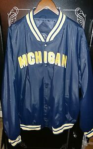 NWT Vintage NCAA Michigan Wolverines Steve And Barry's Jacket Size 3XL
