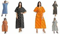 New women Hippie Boho Caftan Kimono Sleeve Kaftan Cocktail Maxi Dress Plus Size