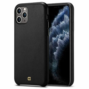 iPhone 11 11 Pro 11 Pro Max Case | Cyrill [The Basics] Black Leather Cover