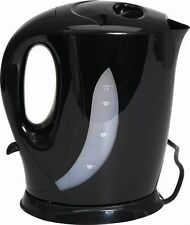 Quest Kettle 1.7L Low Wattage Cordless Kitchen Appliances | Black