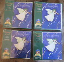 Christmas Card lot 4 packs Joy To The World Angel over 60 cards Lawson Falle