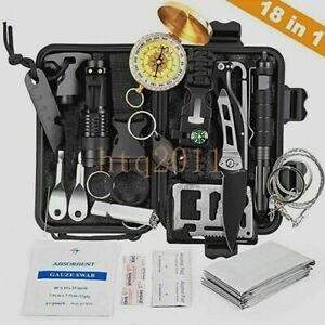 18in1 EDC Emergency Survival Kit Professional Tactical Equipment Multi Tools