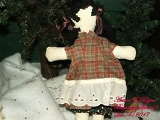 Arturo E.Reyna Folk Art Primitive Faceless Cloth Girl One Of A Kind Doll
