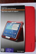 Kensington Soft Folio Case & Stand Samsung Galaxy Tab 3 10.1 inch RED K97113WW