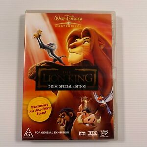 The Lion King (DVD, 2004, 2-Disc Set) 1994 film Region 4