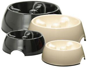 Dogit Quality Dog Anti Gulping  Dish - Go Slow Feeding Bowl Large 1.2L White