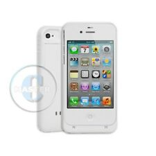 TRAVEL POWER BATTERY PACK EXTEND BACKUP RECHARGEABLE CASE FOR iPHONE 4 4S WHITE
