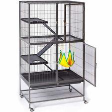5 Level Metal Cat Ferret Rabbit Cage Hutch Hamster Hammock Enclosure Divider