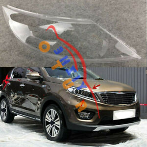 Right Side Headlight Cover Clear PC With Glue Replace For KIA Sportage 2011-2014