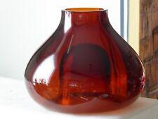 S9-  Schöne große  Design WMF Glas Schale -Vase- Kupetz - Glas - Bernsteinglas