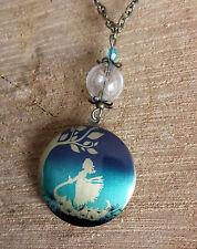 Medaillon,elfe locket retro pusteblume dandelion fairy,Vintage kette foto box