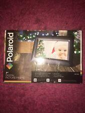 "Polaroid 7"" Inch Digital Photo Frame, Black, Support USB/SD/SDHC/MMC, Open Box"
