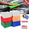 100 Pack Microfiber Cleaning Cloth No-Scratch Rag Car Polishing Detailing Towel