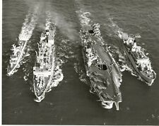 SUPERB OFFICIAL PHOTOGRAPH OF FOUR ROYAL NAVY SHIPS AT SEA
