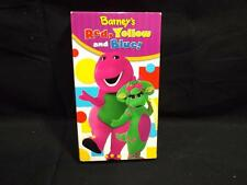 VHS Rare Barney Barney's Sing Along Red Yellow and & Blue