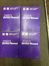 2003 CHEVY S-10 S10 Blazer Jimmy Sonoma Service Shop Repair Manual SET NEW