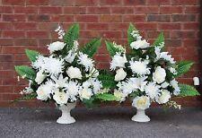 set of 2:Church Altar silk flower arrangement.Wedding,Vows renewal,event.
