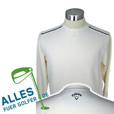 Callaway Golf Jumper Easy-Care Cotton Blended Fabric Cream White 44/46 NIP
