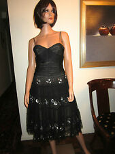 NWT! BCBG MAX AZRIA S Black Tulle Dress Small 4 / 6 Evening Cocktail Gown