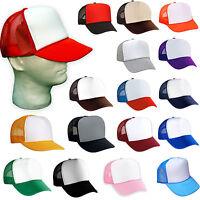 Solid Black Mesh Foam Trucker Hat  Snapback CAPS 2 DOZEN Hats Wholesale Lot