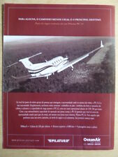 2010'S PUB PILATUS PC-12 AIRCRAFT FLUGZEUG ORIGINAL PORTUGUESE AD