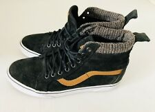 Vans Off The Wall Black Suede High Top Skate Board Shoes Men's Sz 8.5  Womens 10