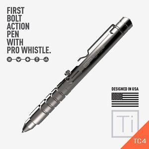 GP 1945 Bolt Action Plus Pen - Machined Titanium High Polished version by GPCA